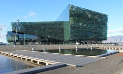 The Harpa Concert Hall and Conference Centre in Reykjavík