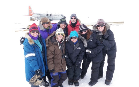 Dartmouth graduate students on the Greenland Ice Sheet