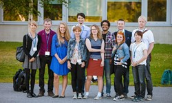 Participants of the 2015 Students' Forum at Umeå University