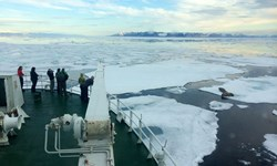 Navigating through sea ice