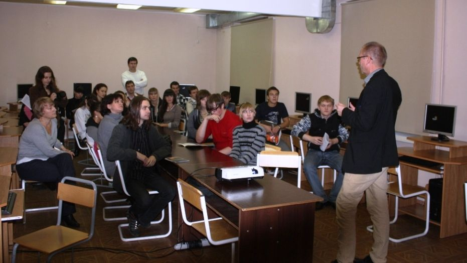 Students at Kola Branch of St Petersburg Economic University in Apatity
