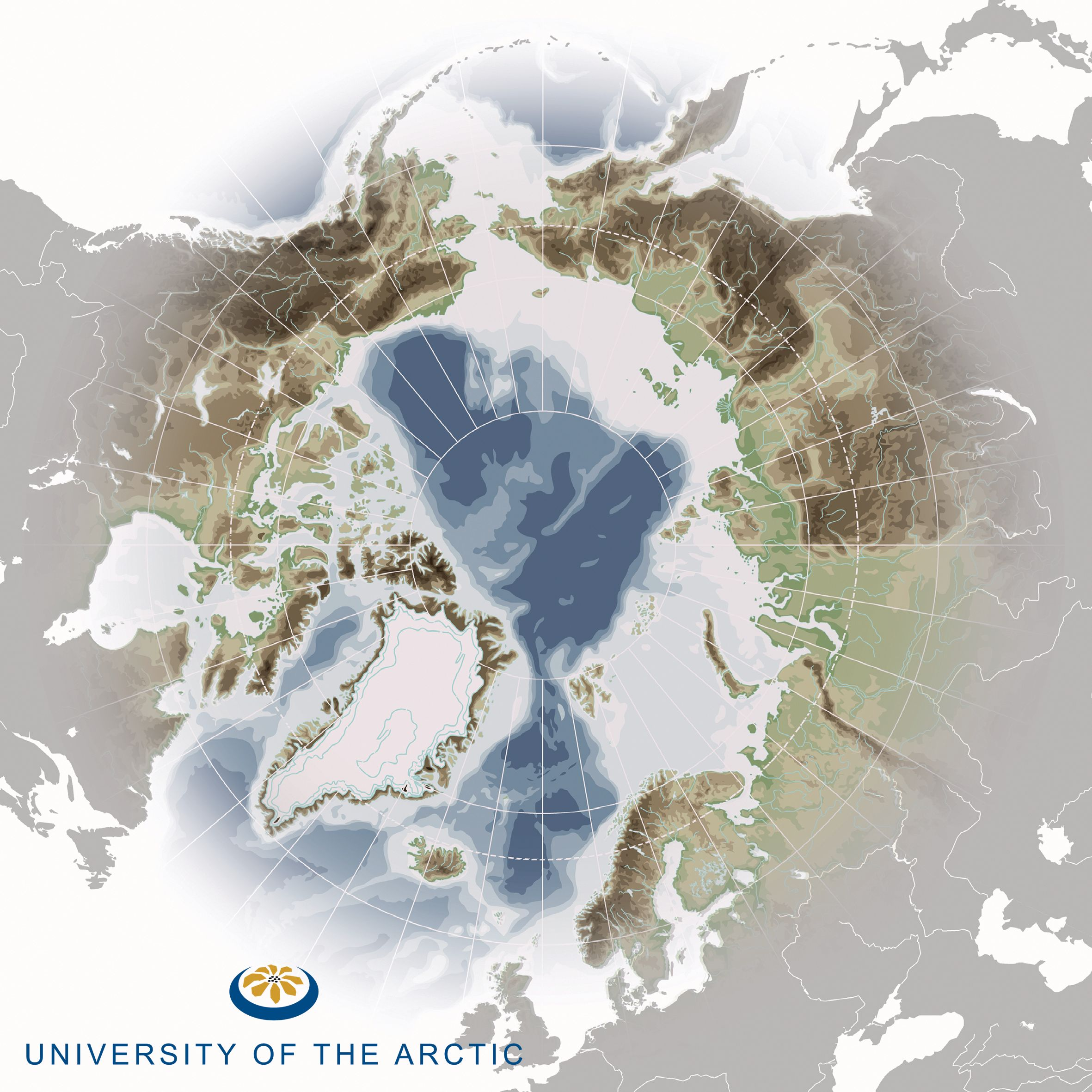 new UARCTIC MAP with logo