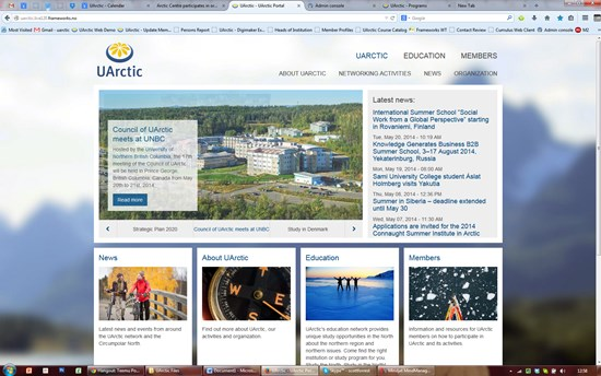 UArctic Main Website Re-Launch Aug 2014